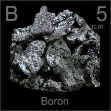 Boro Simbolo: B   Estado: Solido Es un elemento metaloide semi-conductor. Se encuentra en las minas de bórax Descubierto por Louis Joseph, Louis Jacques y Humphry Davy