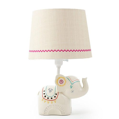Levtex Baby Zahara Lamp Base and Shade Elephant lamp