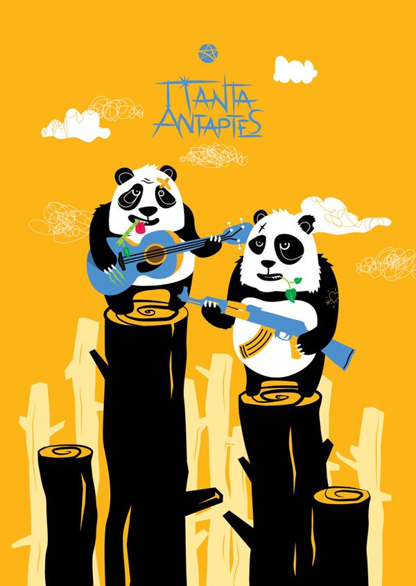 Panda Rebels poster by sereal (www.sereal.net)