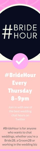 #BrideHour is a chat hour on Twitter that happens every Thursday 8-9pm (UK time) for anyone who wants to chat all things weddings #twitterchathours #weddingchat #Bride2B