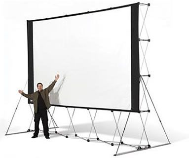 backyard drivein huge portable outdoor projector screen - Projection Screens