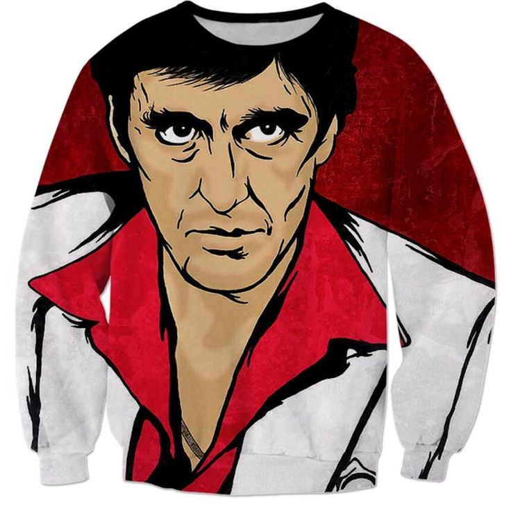 2016 new arrival Women/Men Fashion 3D hoodies pullover Movie Scarface Character Al Pacino printing sweatshirt Harajuku Outerwear #Affiliate