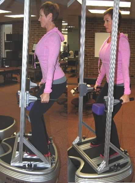 Patented posture rack enables us to use vibration for upper body strength and rehabilitation.