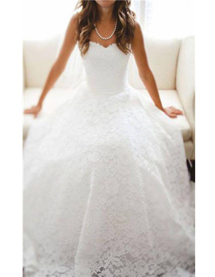 Robe de mariée princesse bustier dentelle - 20 robes de mariée de princesse qui font rêver - Elle