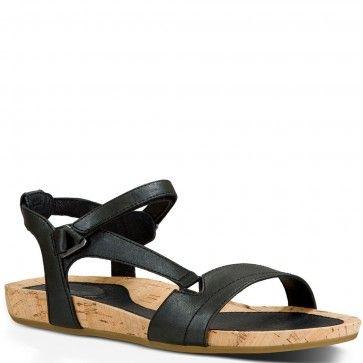 1010067-PBLCK Teva Women's Capri Universal Sandals - Black - Sale