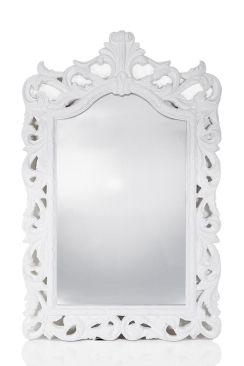 Home :: Mirrors :: Antique Mirrors  :: Ornamental Gloss White Mirror