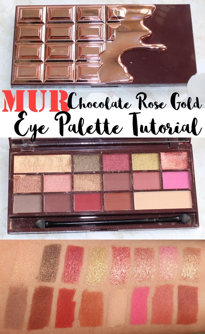 Makeup Revolution Chocolate Rose Gold Eye Palette Review