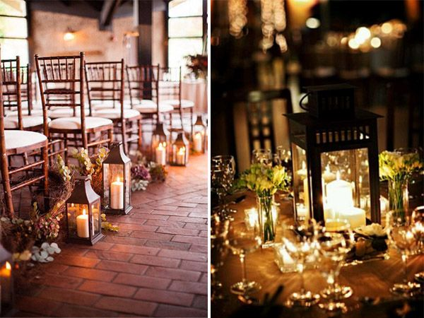 lantern decorations for country rustic outdoor evening wedding ideas