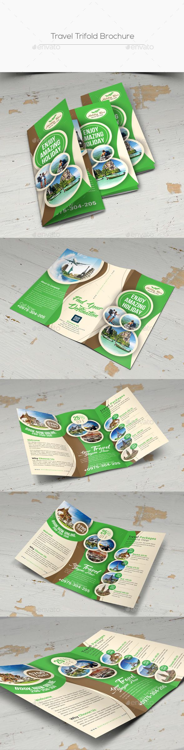 Travel Trifold Brochure #business #trifold brochure  • Download here → https://graphicriver.net/item/travel-trifold-brochure/21285326?ref=pxcr