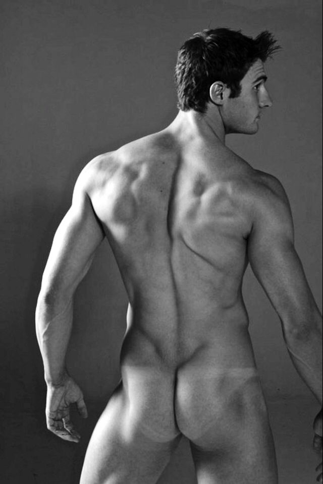 Cute Nude Man With A Slim Pale Body