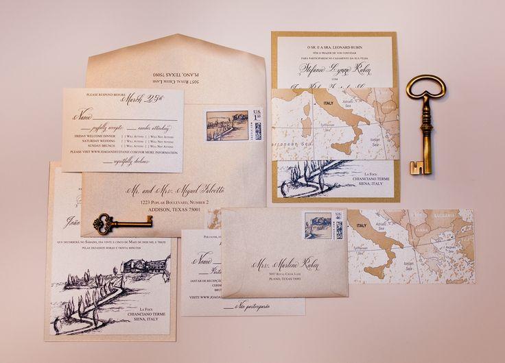 Italian Wedding Invitation: 16 Best Images About ITALY WEDDING INVITATIONS On
