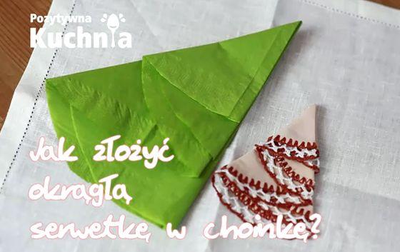 Składanie okrągłej serwetki w choinkę - #poradnik o tym jak złożyć serwetkę w okrągłą choinkę - krok po kroku  http://pozytywnakuchnia.pl/okragla-serwetka-choinka/  #home #decor #dom