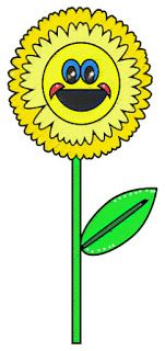 yellow flower free clipart image for bloggers or crafters commercial use ok, sunflower clipart image, yellow daisy clip art image, character flower image, free jpeg jpg clipart illustration image