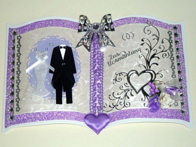 3D Buchkarte Hochzeit Nr. 462 von *M