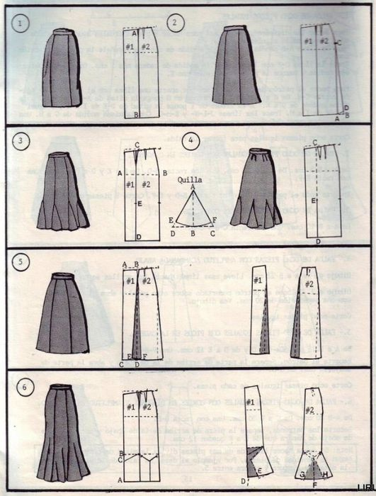 So many skirts model drawings
