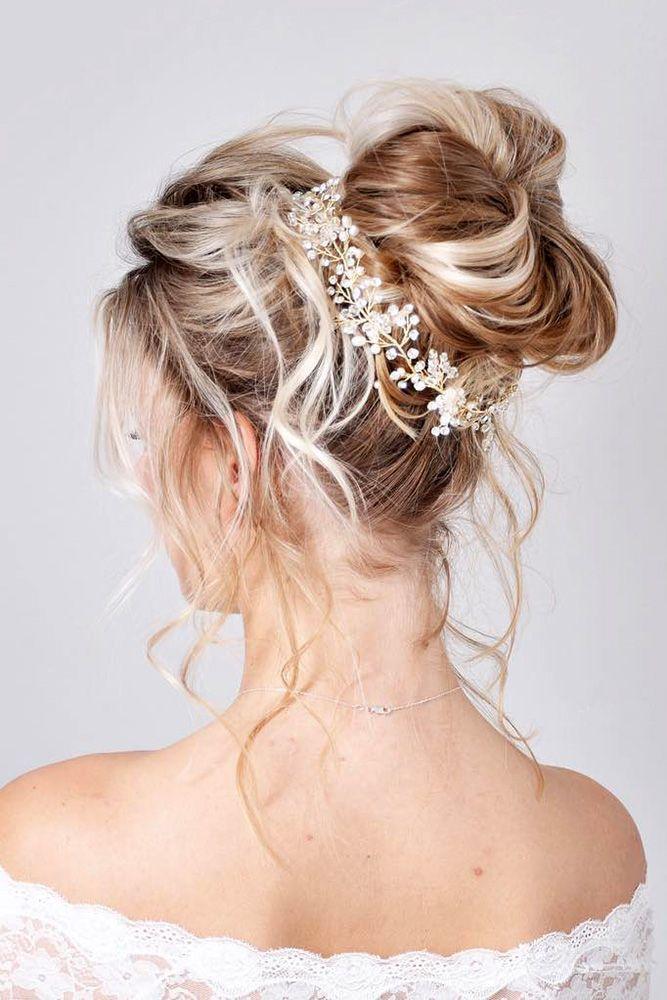 36 Trendy Swept Back Wedding Hairstyles Hair Styles Pinterest