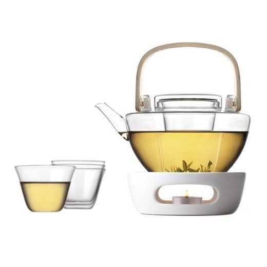 Vatiri Bamboo Talk Hand Made Glass Tea Set