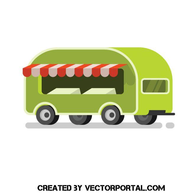 Food Truck Vector Image Vector Free Vector Images Vector