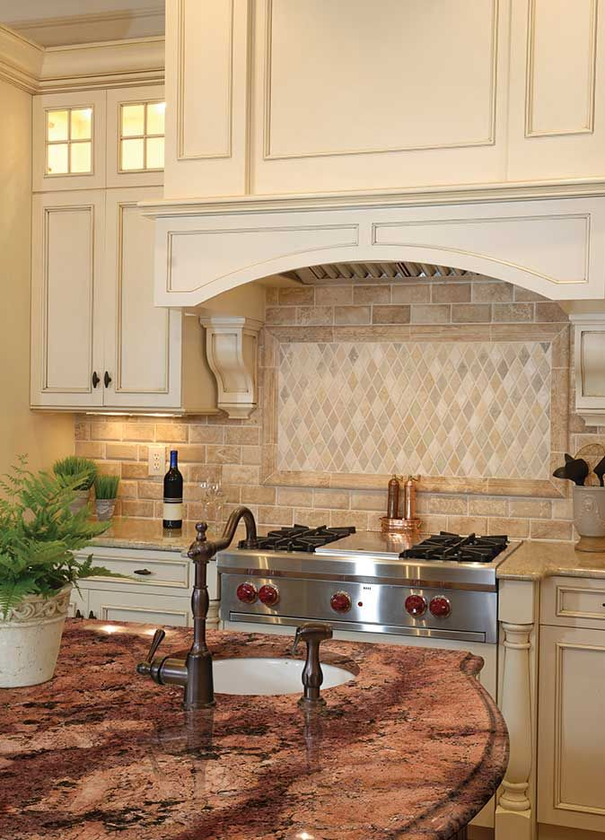 Bordeaux Granite Countertop Room Scene Tile Pinterest Backsplash Ideas Kitchen Backsplash
