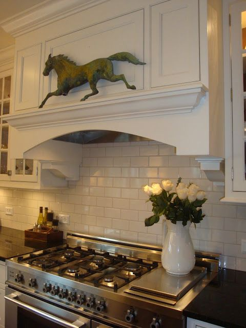 the stovetop, cabinets and the horse! Thanks for posting, Wendy!