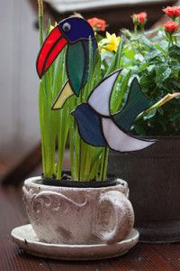 Creative Company | Classy Glass Art: Garden birds