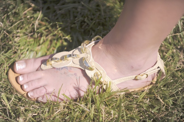 Stephanie Bells sandals at Preakness 2012.