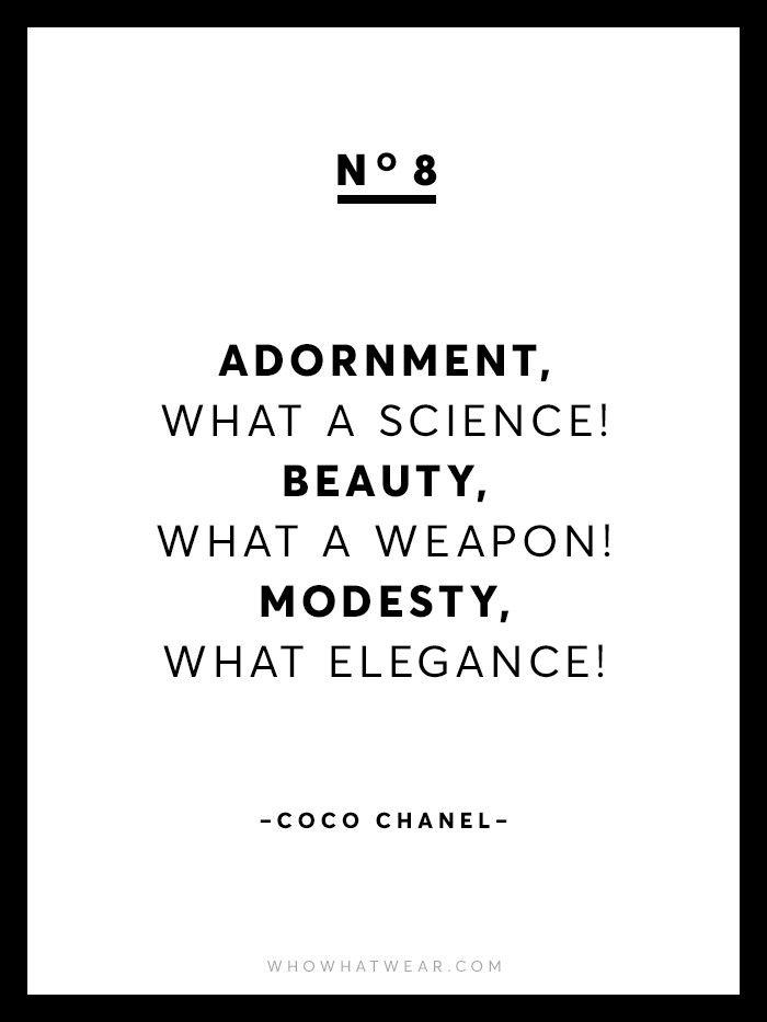 13 Rare Coco Chanel Quotes via @WhoWhatWear
