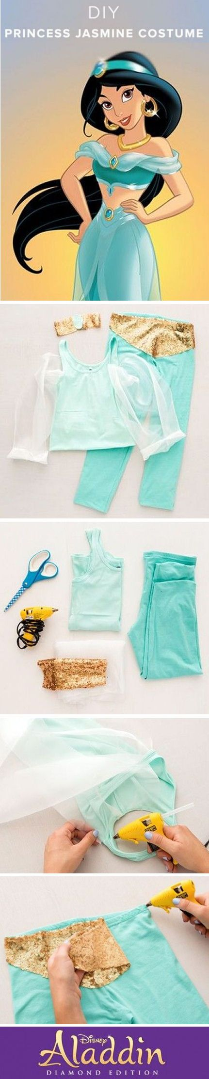 #DIY Princess Jasmine Costume ❤︎ #halloween #aladdin #disney