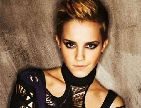 Emma Watson-short hair........she looks amazing in this Photo