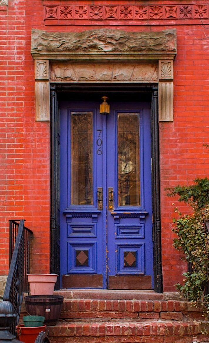 Park Slope, Brooklyn, New York / view beautiful custom door hardware handcrafted by master artisans > https://balticacustomhardware.com/customdoorhardware/thumblatch-entry-sets.html