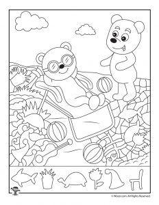 Printable Summer Hidden Pictures Preschool Pinterest Hidden