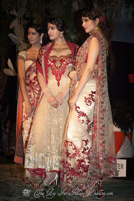 Tarun Tahiliani #saree #indian wedding #fashion #style #bride #bridal party #brides maids #gorgeous #sexy #vibrant #elegant #blouse #choli #jewelry #bangles #lehenga #desi style #designer #outfit #inspired #beautiful #must-have's #india