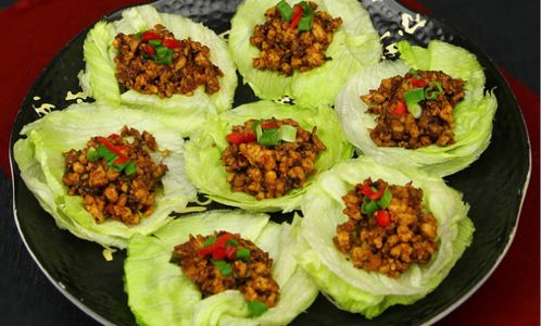 Homemade PF Changs Chicken Lettuce Wraps