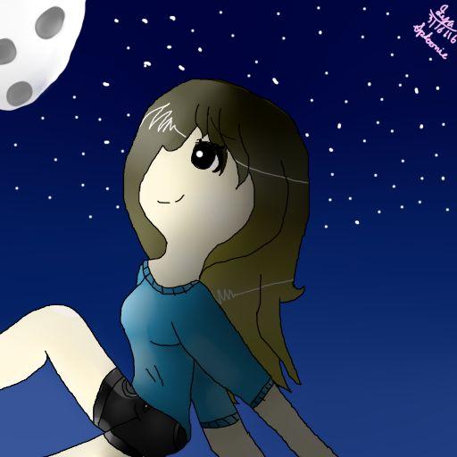 Girl on moonlight by Sploonieslurpetfm.deviantart.com on @DeviantArt