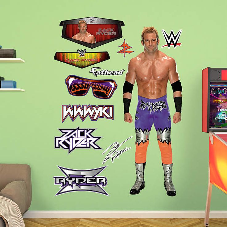 Zack Ryder Fathead Wall Decal