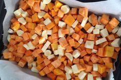 Pompoen, zoete aardappel en pastinaak stampot