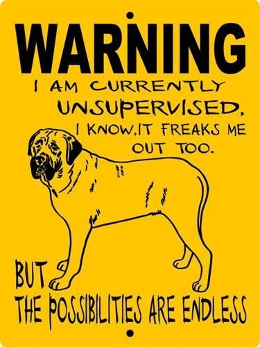 MASTIFF, BULL MASTIFF, ENGLISH MASTIFF, ALUMINUM DOG SIGN WUMAST