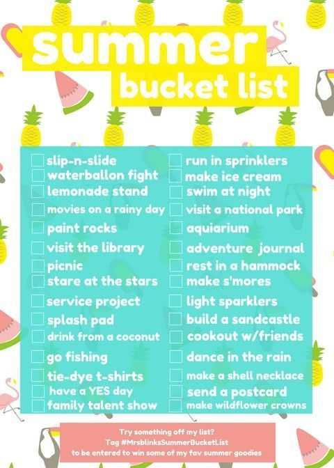 Summer Bucket List Find Ideas Of Things To Do This With Your Kids Checklist Mybucketlistideas