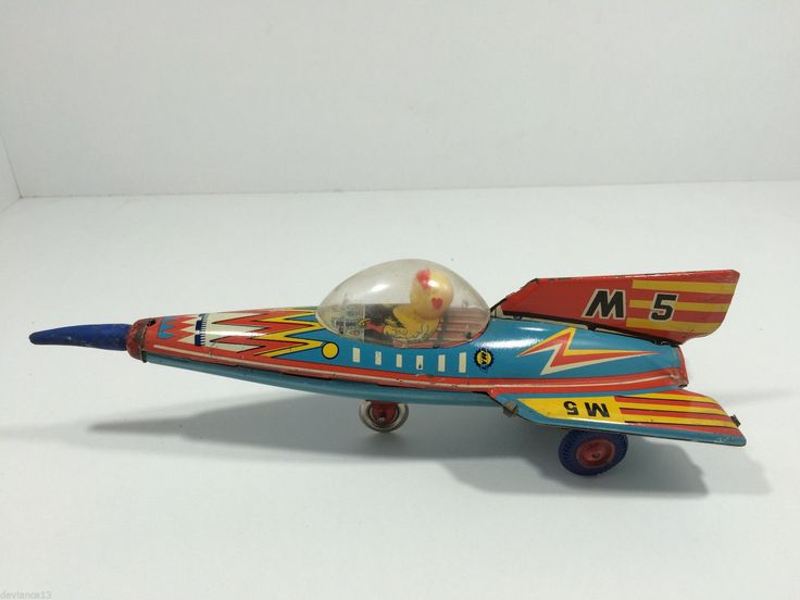 Mega RARE 60's Lyra Greek M5 Space Rocket Tin Friction Litho Masuya Japan N Mint | eBay