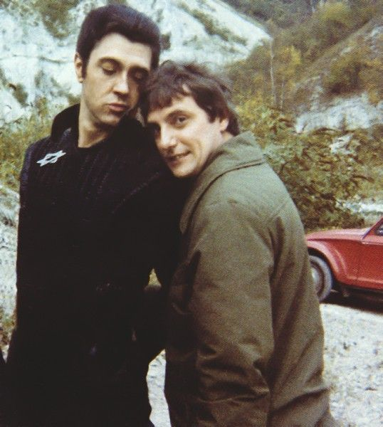 Brian Croucher and Paul Darrow snuggles