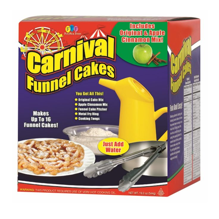 Diy carnival funnel cakes fun easy cake kit with