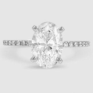 Pear Cut Luxe Ballad Classic Diamond Engagement Ring – 18K White Gold (Setting Price)