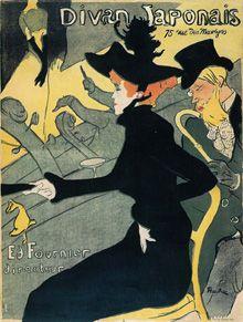 アンリ・ド・トゥールーズ=ロートレック《「ディヴァン・ジャポネ」のポスター》