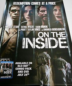 On The Inside Movie Poster 27X40 Used Dash Mihok, Shohreh Aghdashloo, Pruitt Taylor Vince, Leslie Howard, William Kania, Sean P McCarthy, Nick Stahl, Aaron Bernard, DW Brown, Brenna Roth, Jackson Nunn