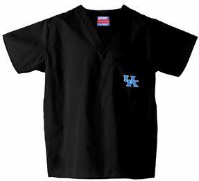 University of Kentucky Scrub Top in Black