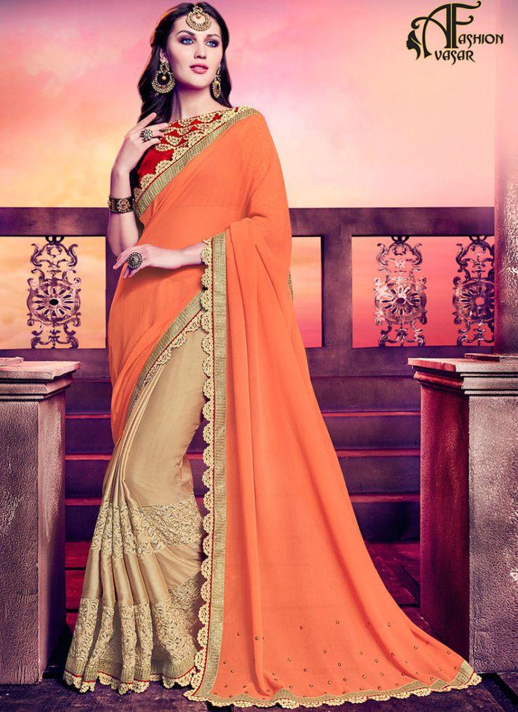 how to wear chiffon saree
