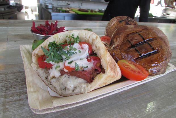 Gourmet pita restaurant in Tel Aviv. IHGRC