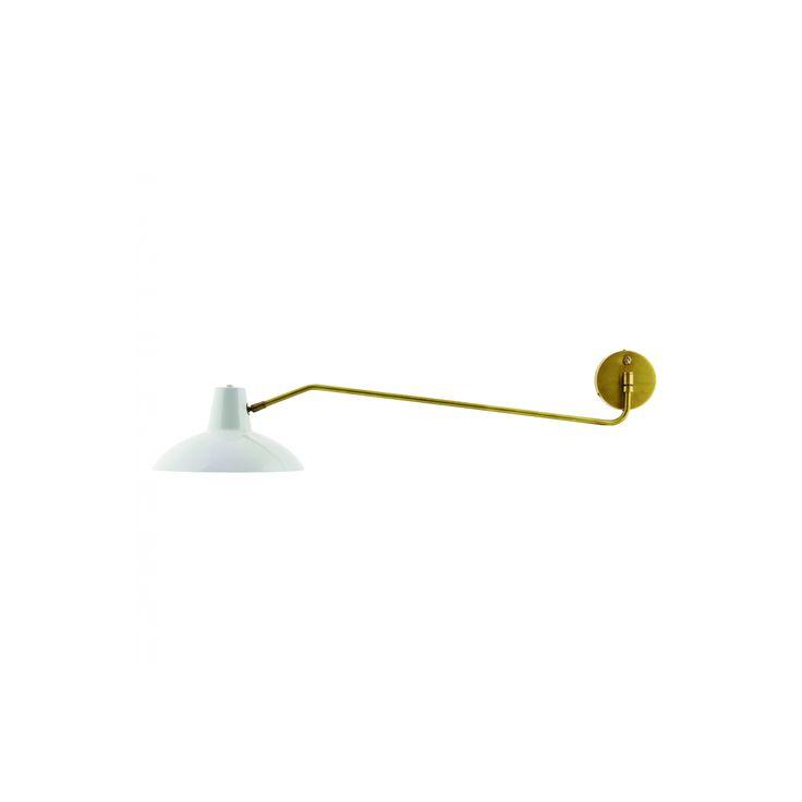 Applique en métal blanc et cuivre jaune House Doctor - Frenchrosa