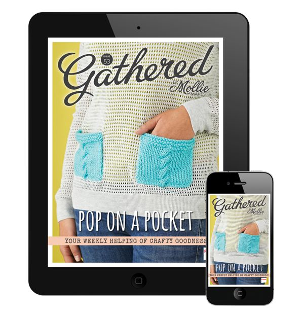 Make cable knit pockets for an autumn update, bake butterscotch blondies and meet textile designer, Katie Walker in this week's issue of Gathered by Mollie Makes