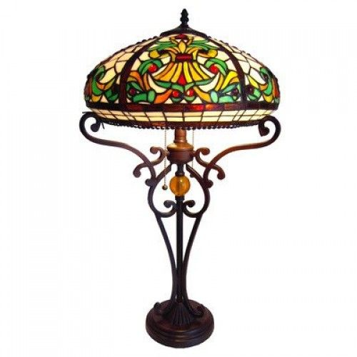 Chloe Lighting CH16A183I-TL2 Tiffany-Style Victorian 2-Light Table Lamp with 16-Inch Shade